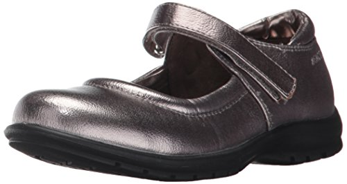 Kenneth Cole Black Janes Mary - Kenneth Cole REACTION Girls' Dolly School Mary Jane, Pewter, 13 M US Little Kid
