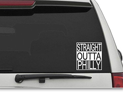 Decals USA Straight Outta Philly Decal Sticker for Car and Truck Windows and Laptops