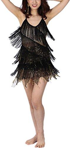 Club Prestazione Oro Abbigliamenti Latino Vestiti Da Vestito Ballerini Nero Ballo Dames Di Stage 6qxBwS5O