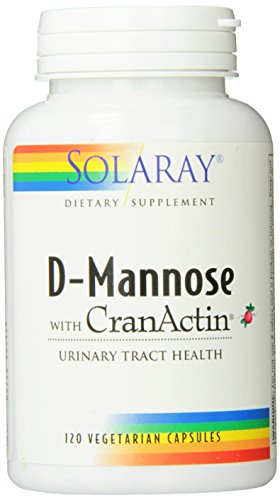Solaray D-Mannose with Cranactin Dietary Supplement, 120 Count