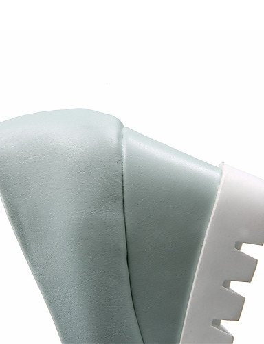GGX/ Damenschuhe-Sandalen-Kleid / Lässig-Kunstleder-Keilabsatz-Wedges-Blau / Rosa / Weiß white-us5.5 / eu36 / uk3.5 / cn35