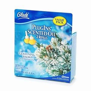 Glade PlugIns Scented Oil - Glistening Snow - Value Pack 2 (Glistening Snow)