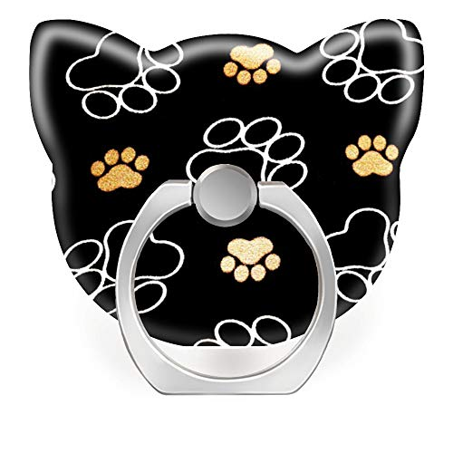 360 Degree Finger Stand Cell Phone Ring Holder Car Mount with Hook for Smartphone-Dog Puppy paw Prints Gifts for Dog Lovers Dog Cell Phone Holder