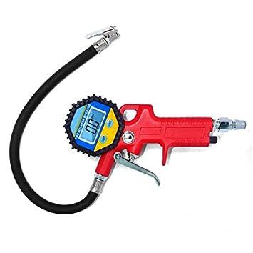 genmine® 3 en 1 Medidor digital de presión de los neumáticos, neumáticos inflador pistola