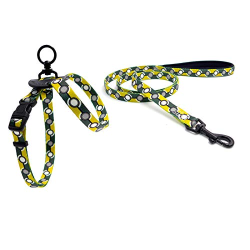 Yellow 6590120cm yellow 6590120cm YSDTLX Dog Chest Strap With 8 Word Traction Rope Pet Supplies Soft Dog Chain, Yellow, 6590  120Cm