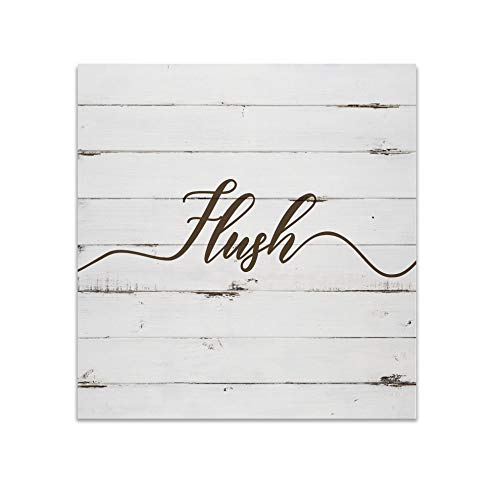 Renditions Gallery Rustic Flush Sign Bathroom Décor Gallery Wrapped Canvas Wall Art, 16x16,