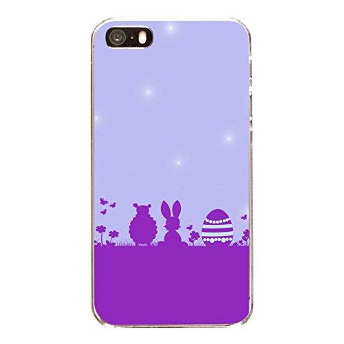 "Disagu Design Case Coque pour Apple iPhone 5 Housse etui coque pochette ""Frohe Ostern´14 Lila"""
