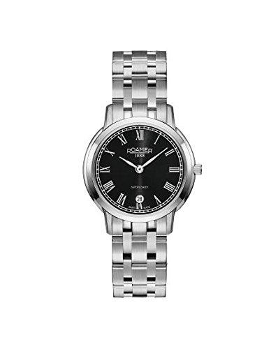 Roamer 515811-41-52-50 Ladies Superslender Silver Steel Bracelet Watch