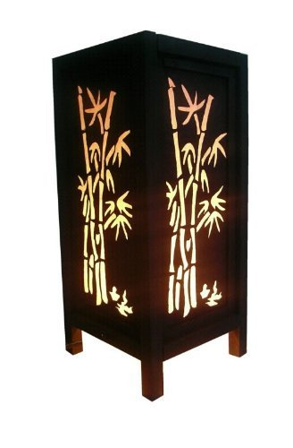Zixzax Thai Vintage Handmade Bamboo Stencil Lighting Chic Oriental Design by ZIXZAX