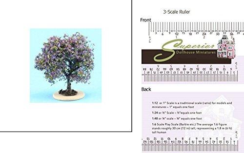 1″ Scale Dollhouse Bush: Purple-Blue, Small image