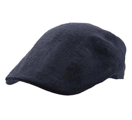 Stetson Ivy Cap Linen/Slik Flat Cap Size L ()