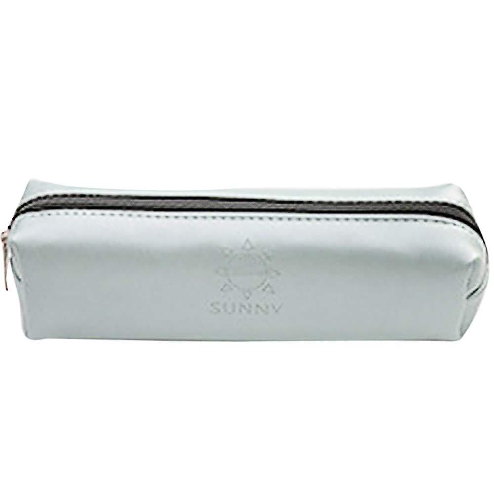 LiPing Pencil Case Matte Stationery Storage Bag Pencil Bag Pocket Protector Storage Holder Bag Pen Cases Simple Stationery Bag For Student School (Mint Green)