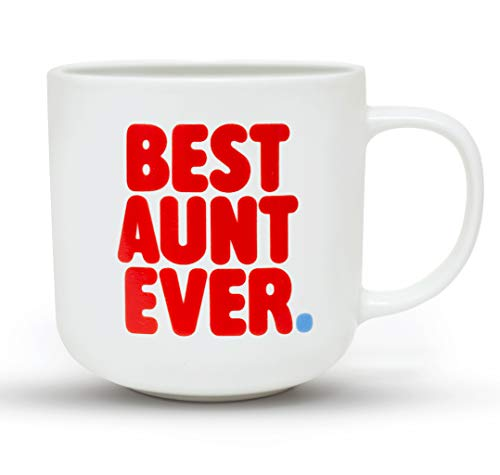 Gifffted Worlds Best Aunt Ever Coffee Mug for My Favorite Aunt, Funny Gifts Ideas for Great Cool Aunts, Birthday Presents for Greatest New Aunt, Valentines Mugs, 13 Oz Cup
