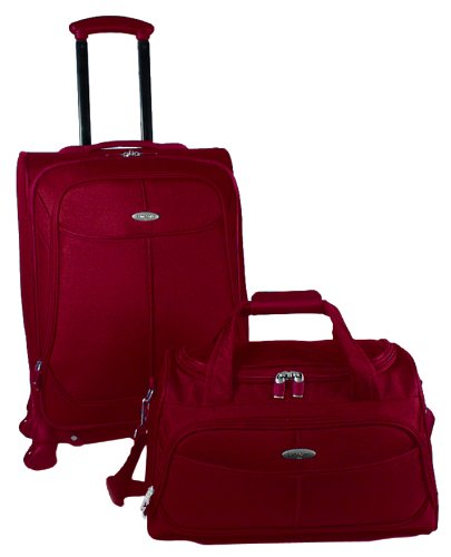 Samsonite Luggage Two Piece Nested Set, Red, One Size, Bags Central