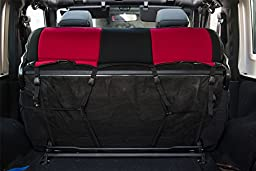 PERNICE Jeep Wrangler Neoprene Seat Covers Custom Fit for 2007, 2008, 2009, 2010, Airbag Compatible (2 DOOR, Red)