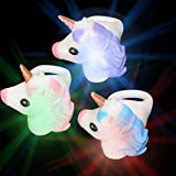 Unicorn Led Light Up Rings | Unicorn Glow Rings For Kids and Adults | Unicorn Favors For kids Party and Rave Accessories  (12 PCS)