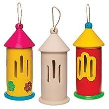 Baker Ross-Casa de Mariposas de cerámica – Pack de 2 Kits de Pintura para niños para diseñar, Decorar y Aprender, Color (AW408)