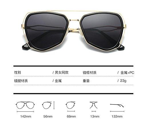 du polarisées lunettes de de Frêne soleil cercle Noir en style inspirées retro B Lennon rond Morceau vintage métallique IIgqR