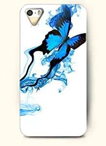 OOFIT Phone Case Design with Blue Butterfly for Apple iPhone 5 5s 5g