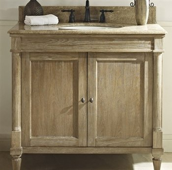 Fairmont Designs 142-V36 Rustic Chic 36 Inch Vanity In Weathered Oak (Vanity 36 Inch Fairmont)