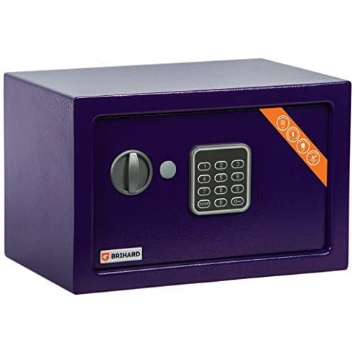 Brihard Home Electronic Safe, 20x31x20cm (HxWxD), Navy Blue