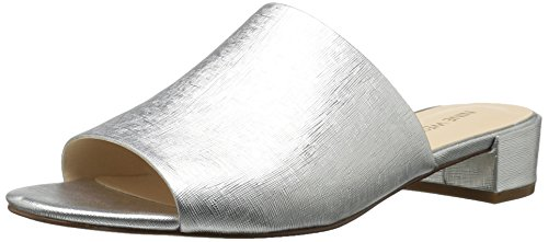 Nine West Women's Raissa3 Open Back Slippers, Argento Silver (Silver)