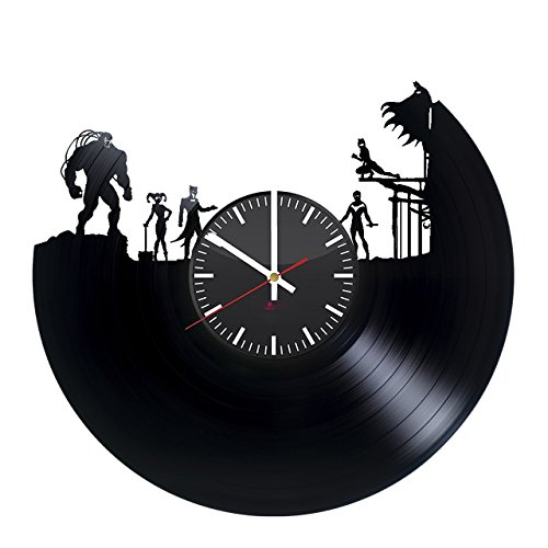 Comic Collectibles HANDMADE Vinyl Record Wall Clock - Get unique home room wall decor - Gift ideas for teens – Superhero Unique Modern Art