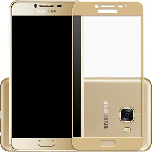 Lize Premium Full Screen Coverage Tempered Glass Screen Guard Protector for Samsung Galaxy C9 Pro  Gold  Maintenance, Upkeep   Repairs