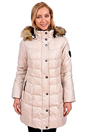 RedX Canada Women's Mid Length Parka Winter Coat With Faux