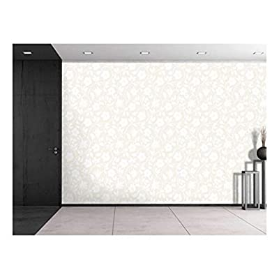 Charming Style, Professional Creation, Large Wall Mural Seamless Floral Pattern Vinyl Wallpaper Removable Decorating