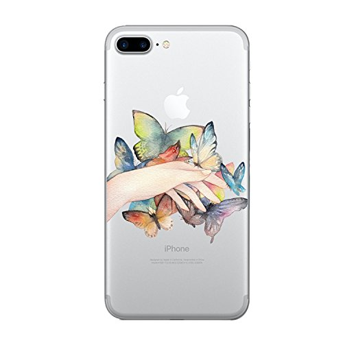 "Vanki® iPhone 7 Funda, Carcasa Serie volar Sakura iPhone 7 Case Cover Silicona Suave Funda para Apple iPhone 7 4.7"" 7"
