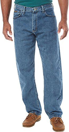 Genuine Wrangler Mens Advanced Comfort Jeans 34W x 30L Stone - Genuine Jeans