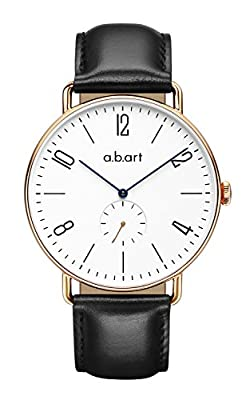 abart FN41-001 Wrist Watch Roman Numerals 316L Rose Gold Crystal Sapphire Case Men's Watches by a.b.art