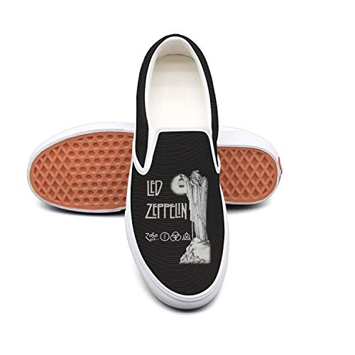 Authentic Pearl Jam - Dolorexri Led-Zeppelin-Stairway-to-Heaven- Womens Canvas Slip-on Fashion Sneaker Skate Shoe
