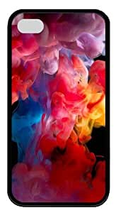 colored smoke TPU Black Case for iphone 4S/4