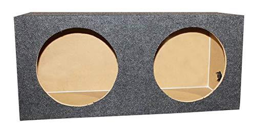 "Q-POWER 10"" Dual Sealed Car Audio Subwoofer Sub Box Enclosure | 32 x 14.5 x 12"