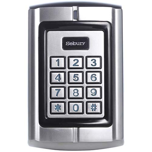 UHPPOTE Metal Shell Waterproof Access Control Keypad Reader with Wiegand 26-37 Interface for 125KHz HID & EM ()