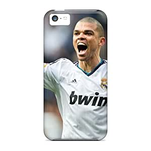 Maria N Young Case Cover For Iphone 5c - Retailer Packaging The Player Of Real Madrid Pepe Is Happy Protective Case by supermalls