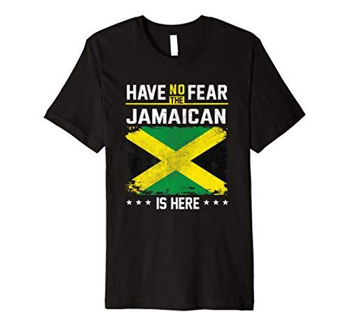 - Jamaica Flag Shirt Have No Fear Jamaican Pride Gift Premium T-Shirt