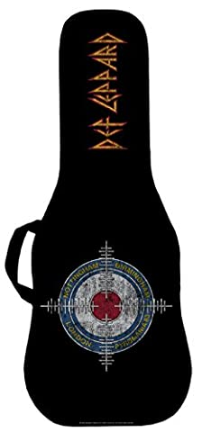 Official Def Leppard Pyromania Cross Hairs #2 Electric Guitar Case. Printed panel is (Acoustic Guitar Phitz)
