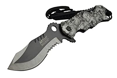 "8"" M-TECH ASSISTED OPEN Blade Tactical FOLDING POCKET KNIFE Bowie Switch"