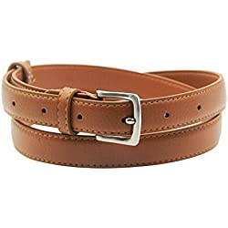 Maikun Womens Skinny Leather Belt