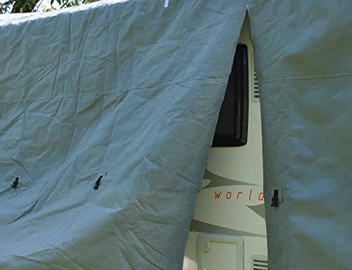 41nONRWy1sL HBCOLLECTION Atmungsaktiv Stabil Schutzhülle für Wohnwagen (3,80 m Länge (2,15 x 2,20 m/Breite x Höhe))