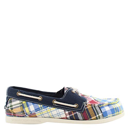 SPERRY Men's A/O 2-Eye Prep Patchwork Madras 11 M US