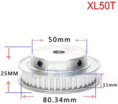 Aluminium Alloy Trapezoidal Teeth XL 10T-100T Timing Belt Pulley Synchronous Wheel Select Bore for 10mm Width Belt