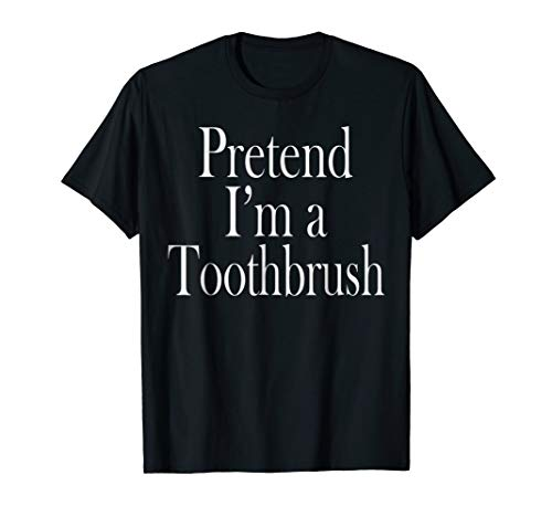 Toothbrush Costume T-Shirt for the Last Minute Party ()