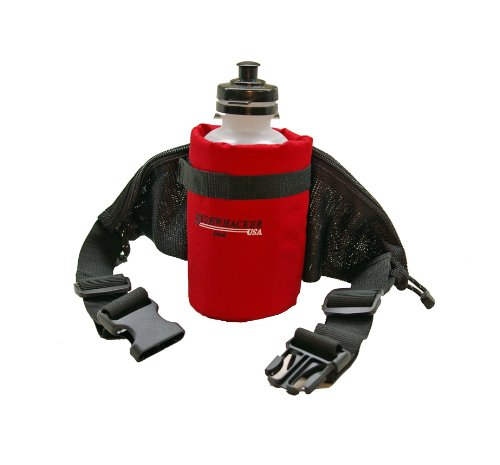 Bushwhacker Oasis – Insulated Hydration Hip Pack – Water Bottle Included – Red, Outdoor Stuffs