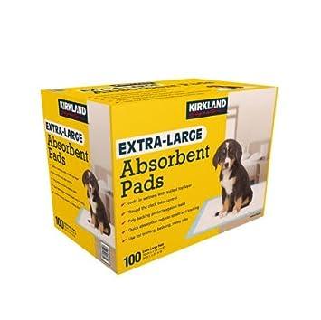 Kirkland Signature - Almohadillas absorbentes extragrandes, 100 almohadillas grandes, 30 x 23 cm: Amazon.es: Productos para mascotas