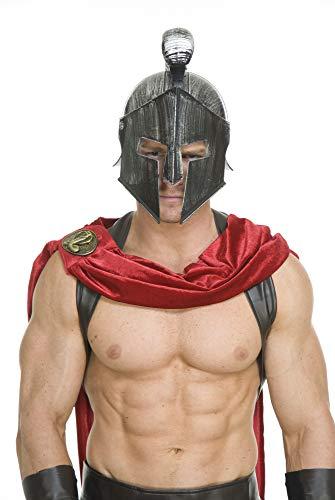 Charades Men's Spartan Legions Helmet, Silver, One Size