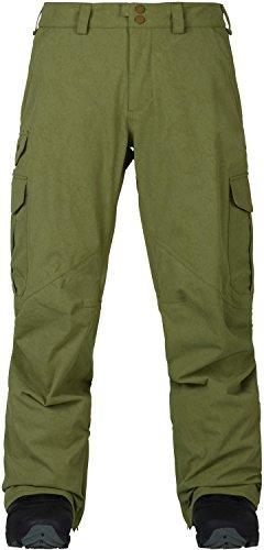 Cargo Snowboard Pants Olive - Burton Men's Cargo Pant Mid Fit, Olive Branch Distress, Medium